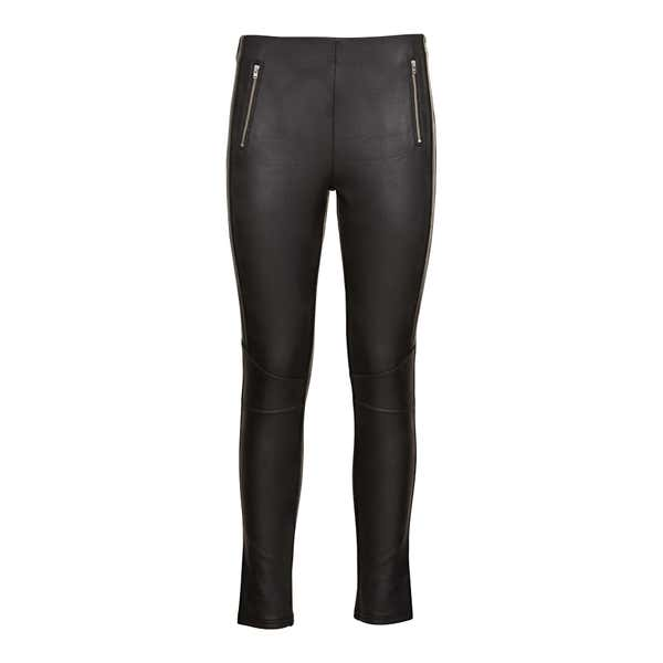 Damen-Leggings in Leder-Optik