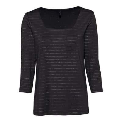 Damen-Shirt mit Glitzerstreifen