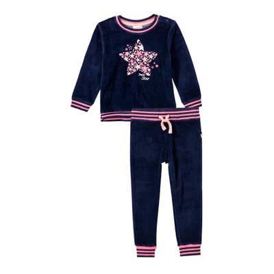 Baby-Mädchen-Set mit Sternen-Frontaufdruck, 2-teilig