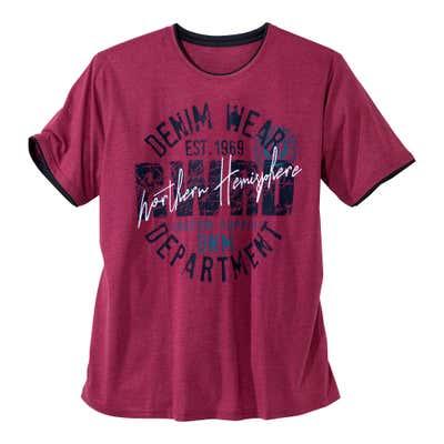 Herren-T-Shirt in angesagten Styles, große Größen