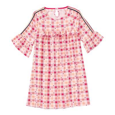 Mädchen-Kleid mit Karomuster