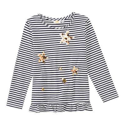 Mädchen-Shirt mit Pailletten-Sternen
