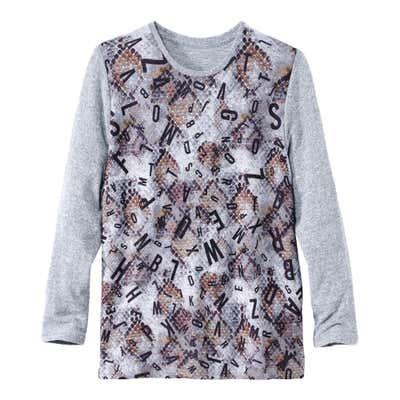 Damen-Sweatshirt mit stylischem Buchstaben-Druck, große Größen
