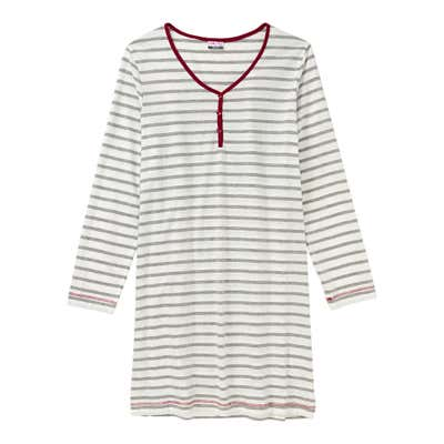 Damen-Nachthemd mit Streifenmuster