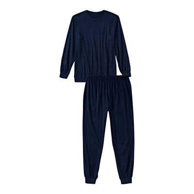 Herren-Schlafanzug mit Bündchen, 2-teilig
