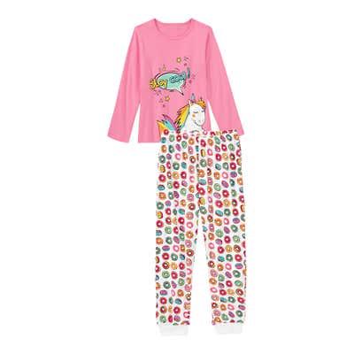 Mädchen-Schlafanzug mit Donut-Muster, 2-teilig