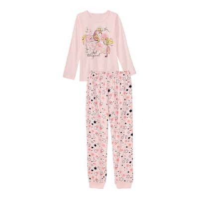Mädchen-Schlafanzug mit Sternenmuster, 2-teilig