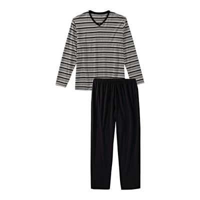 Herren-Schlafanzug mit Ringelmuster, 2-teilig