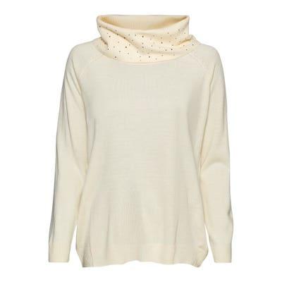 Damen-Pullover mit Glitzersteinchen