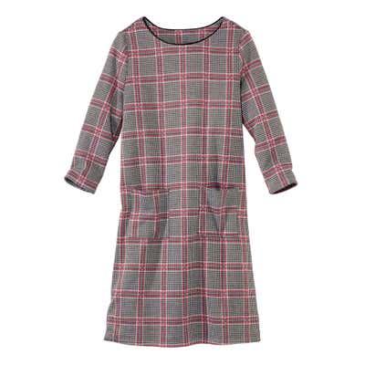 Damen-Kleid mit Karomuster