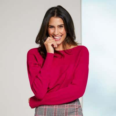 Damen-Pullover mit Fledermaus-Ärmeln