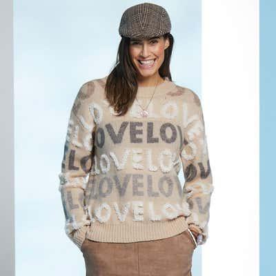 Damen-Pullover mit Schriftzug-Design