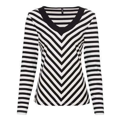 Damen-Sweatshirt mit Streifendesign