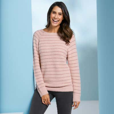 Damen-Pullover mit Ringelmuster
