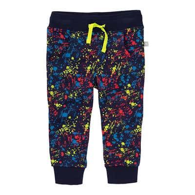 Baby-Jungen-Jogginghose mit Farbklecks-Muster