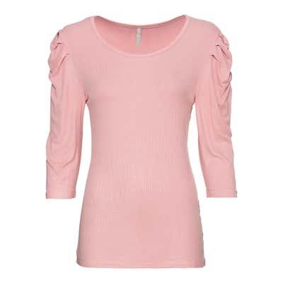 Damen-Shirt mit gerafften Schultern