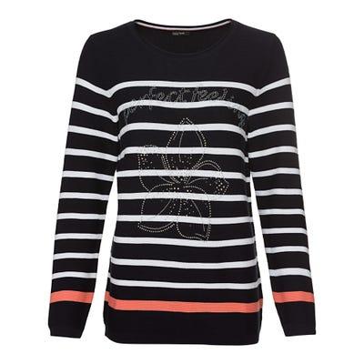 Damen-Pullover mit Glitzermotiv
