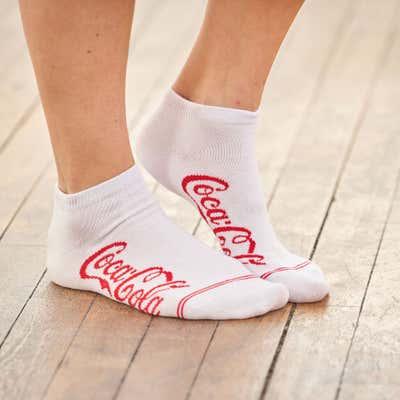 Unisex-Sneaker-Socken mit Coca Cola®-Motiv, 3er-Pack