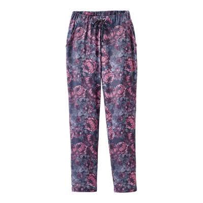 Damen-Joggpants mit Blütenmuster