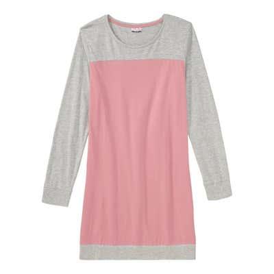 Damen-Nachthemd mit Farbblock-Design