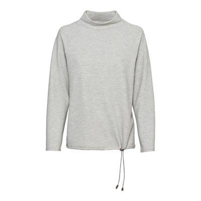 Damen-Shirt mit Bindebändern am Saum