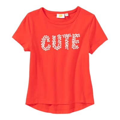 Mädchen-T-Shirt mit glitzerndem Schriftzug