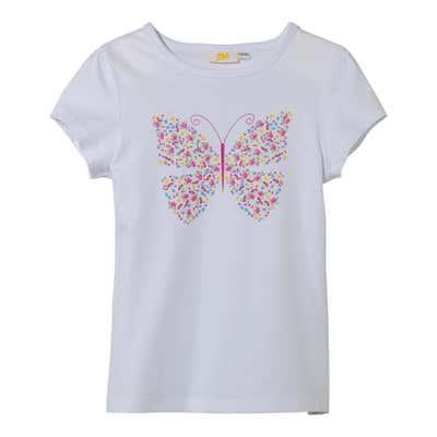 Mädchen-T-Shirt mit Schmetterlings-Aufdruck