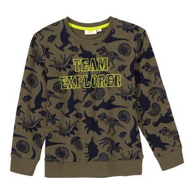 Jungen-Sweatshirt mit Dino-Muster