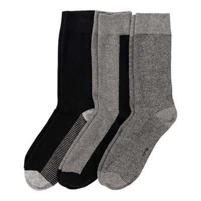 Herren-Socken mit Kontrast-Design, 3er Pack