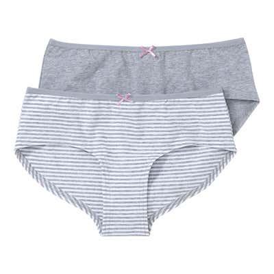 Damen-Panty mit Zierschleife, 2er Pack