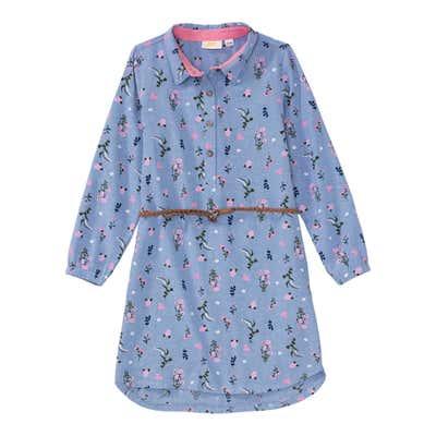 Mädchen-Kleid mit geflochtenem Gürtel