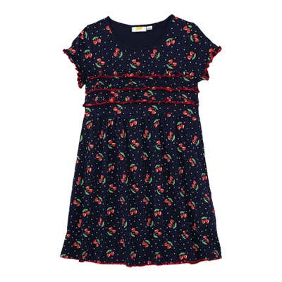 Mädchen-Kleid mit Kirschen-Muster