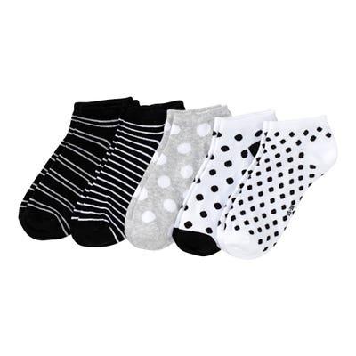 Damen-Sneaker-Socken mit Punkte-Muster, 5er-Pack