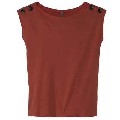 Damen-T-Shirt mit Zierknöpfen