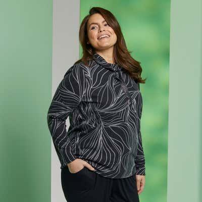 Damen-Sweatshirt mit Jacquard-Muster, große Größen