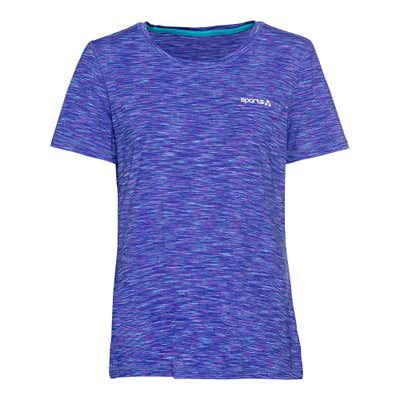 Damen-Fitness-T-Shirt in Space-Dye-Optik