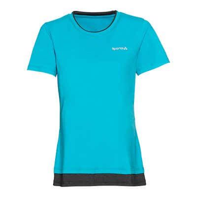 Damen-Fitness-T-Shirt im 2-Lagen-Look