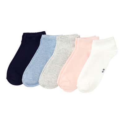 Damen-Sneaker-Socken, 5er-Pack