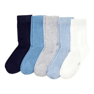 Damen-Socken, 5er Pack