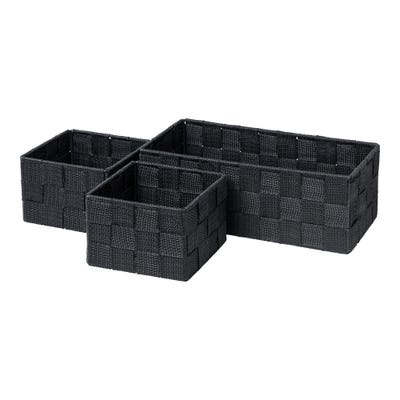 Organizer-Set mit Schachbrettmuster, 3-teilig