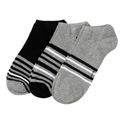 Herren-Sneaker-Socken mit Streifen, 3er-Pack