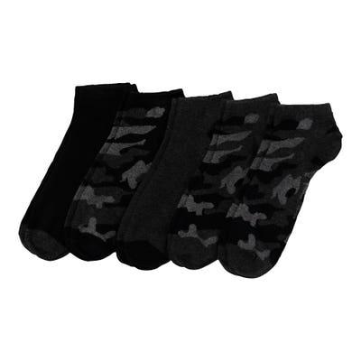 Herren-Sneaker-Socken mit Carmouflagemuster, 5er-Pack