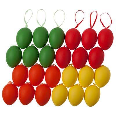 Deko-Eier, Ø ca. 4cm, 24er Pack