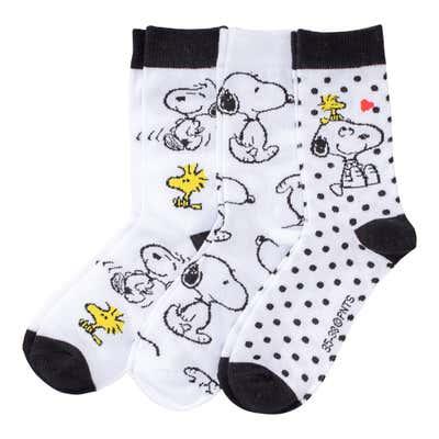 Snoopy Damen-Socken, 3er Pack