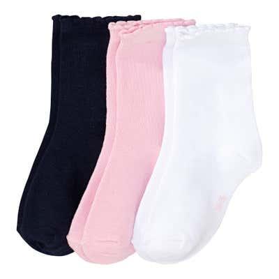Mädchen-Socken mit Mäusezähnchen,, 3er-Pack