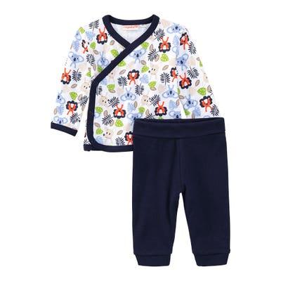 Baby-Jungen-Set mit Wickelshirt, 2-teilig