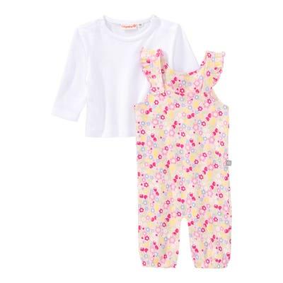 Baby-Mädchen-Set mit Strampler-Hose, 2-teilig