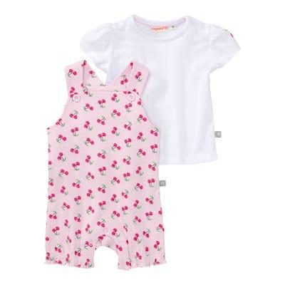 Baby-Mädchen-Set mit Kirsch-Muster, 2-teilig