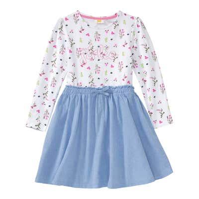 Mädchen-Kleid mit Blümchen-Muster