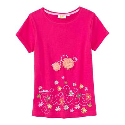 Mädchen-T-Shirt mit Glitterprint